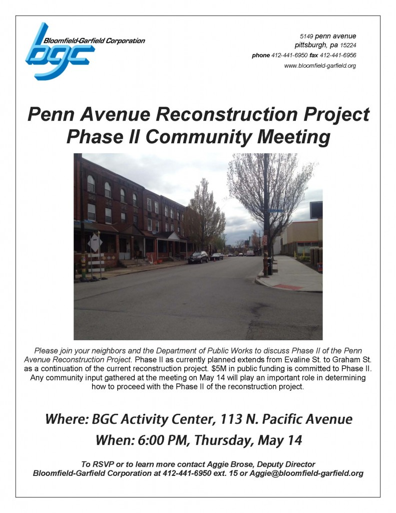 Penn Avenue Community Meeting Photo